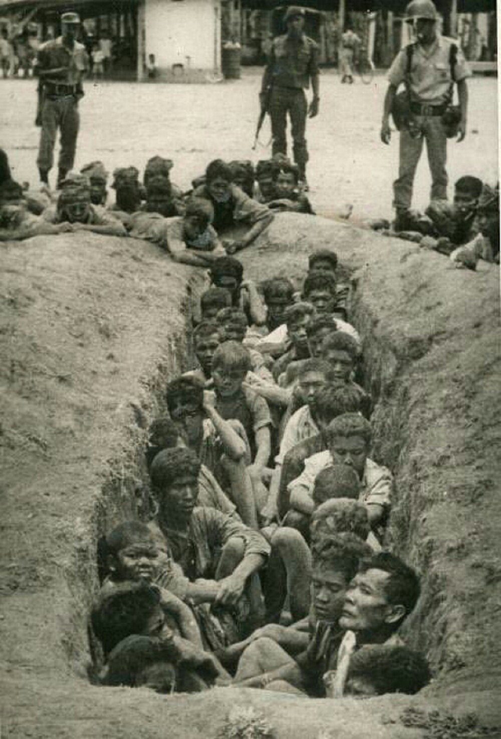 Image Victims of the Indonesian Genocide were thrown in mass graves or into rivers (1965).