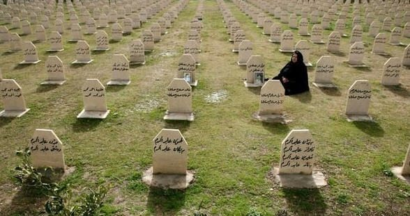 Image The mass graveyard for those who died in the gas attack on Halabja, Kurdistan region of Iraq (AP).