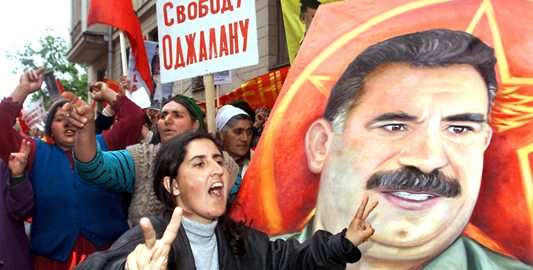 Image PKK founder Abdullah Ocalan was sentenced to death by a Turkish court in 1999 [EPA]