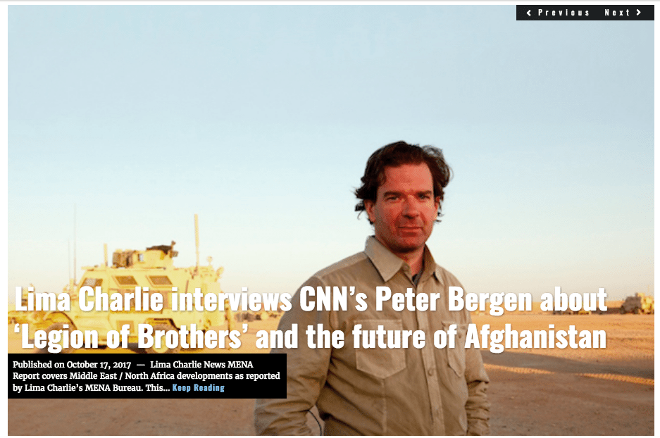 Image Lima Charlie News Headline Peter Bergen interview JSjoholm OCT17