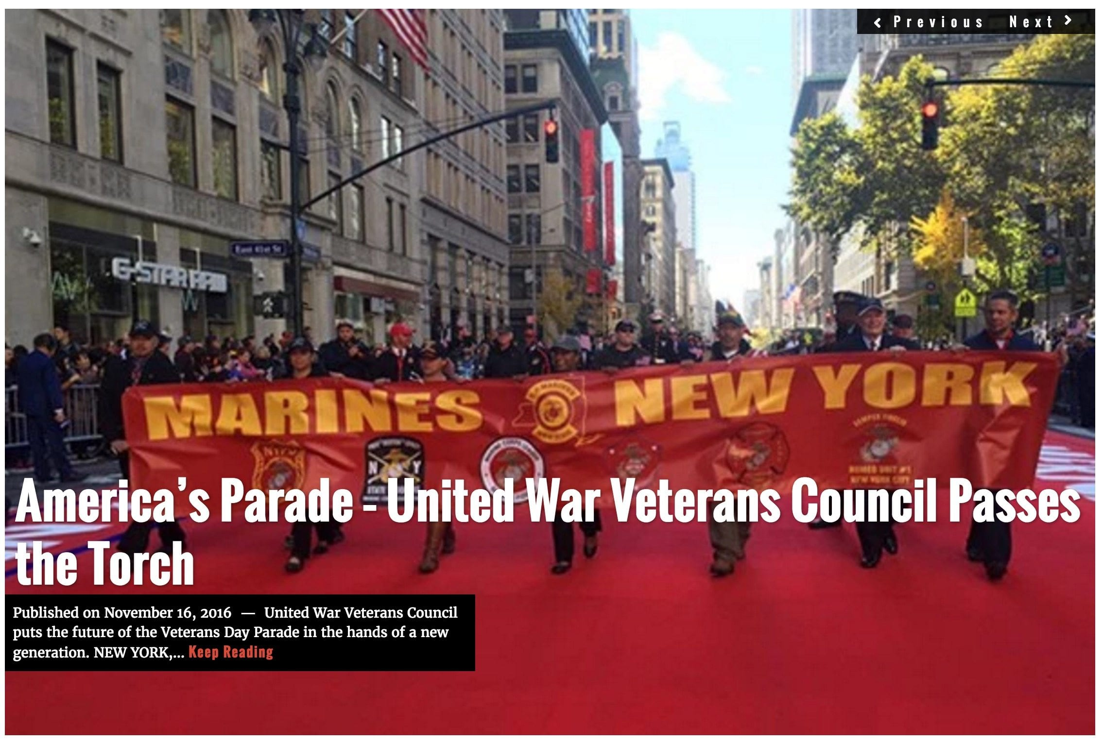 Image Lima Charlie News Headline Veterans Day Parade NOV16
