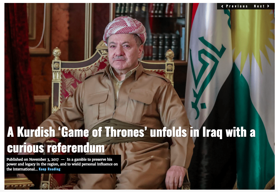 Image Lima Charlie News Headline Masoud Barzani Kurdish Game of Thrones - J.Sjoholm NOV3