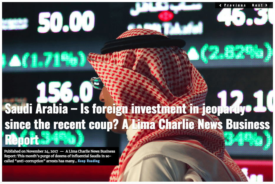Image Lima Charlie News Headline Saudi Arabia Business B.Jones NOV24