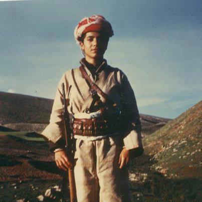 Image A young Mas'oud Barzani.