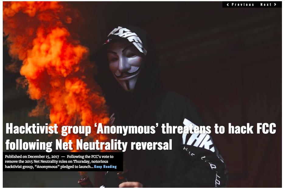 Image Lima Charlie News Headline Anonymous Net Neutrality Mack DEC15