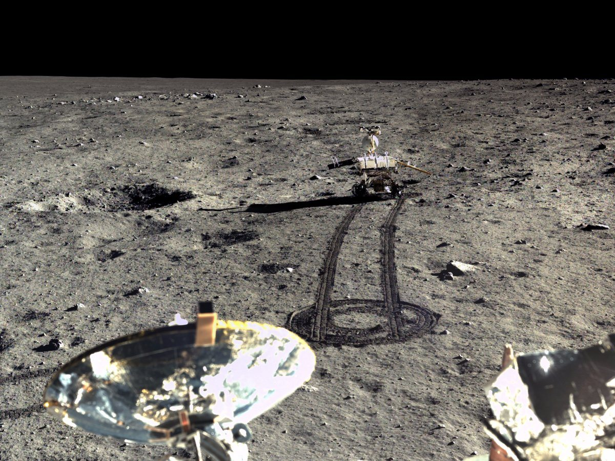 Image China's 2013 Yutu moon landing.