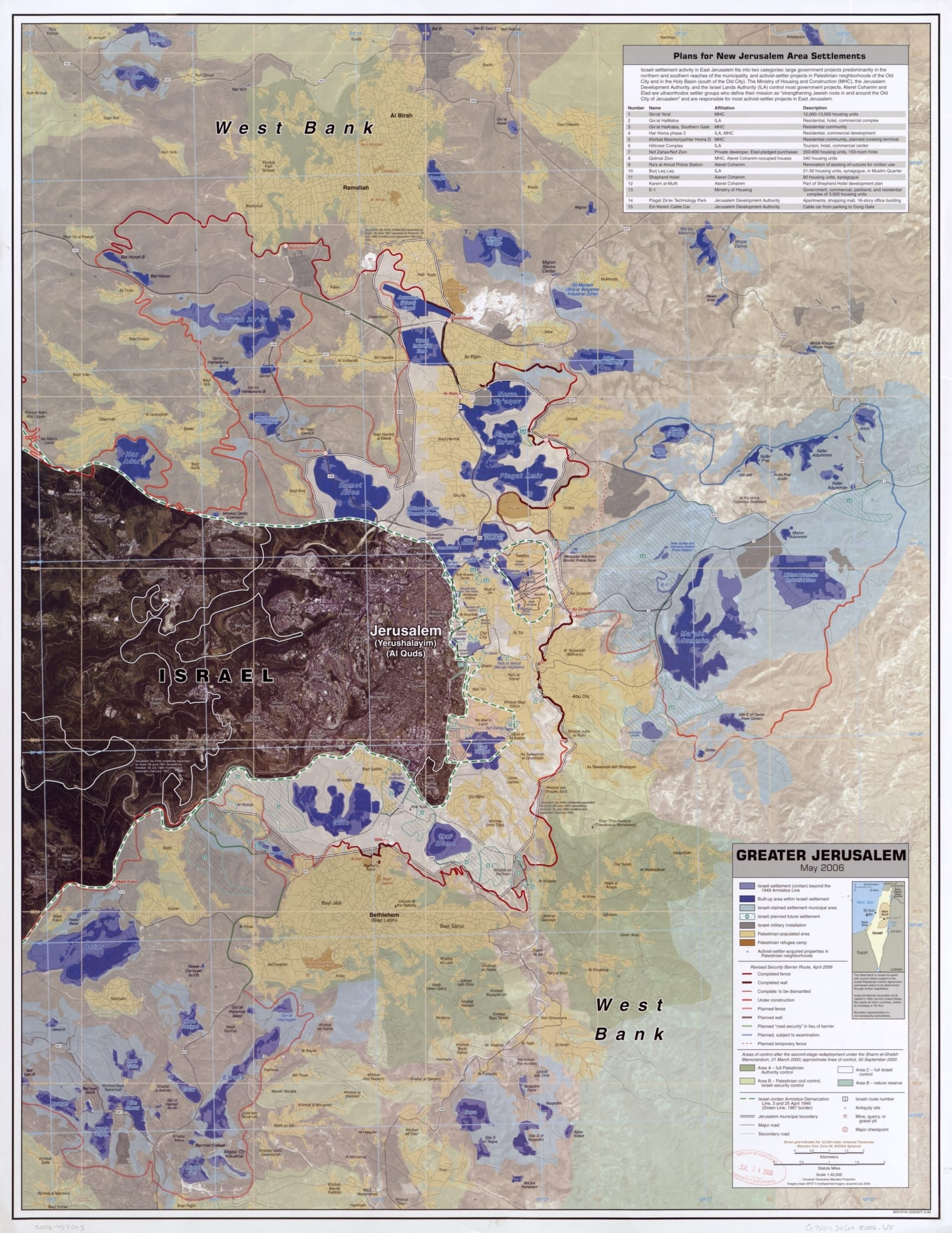 Image Map of Jerusalem [Source: Central Intelligence Agency, (2006)]