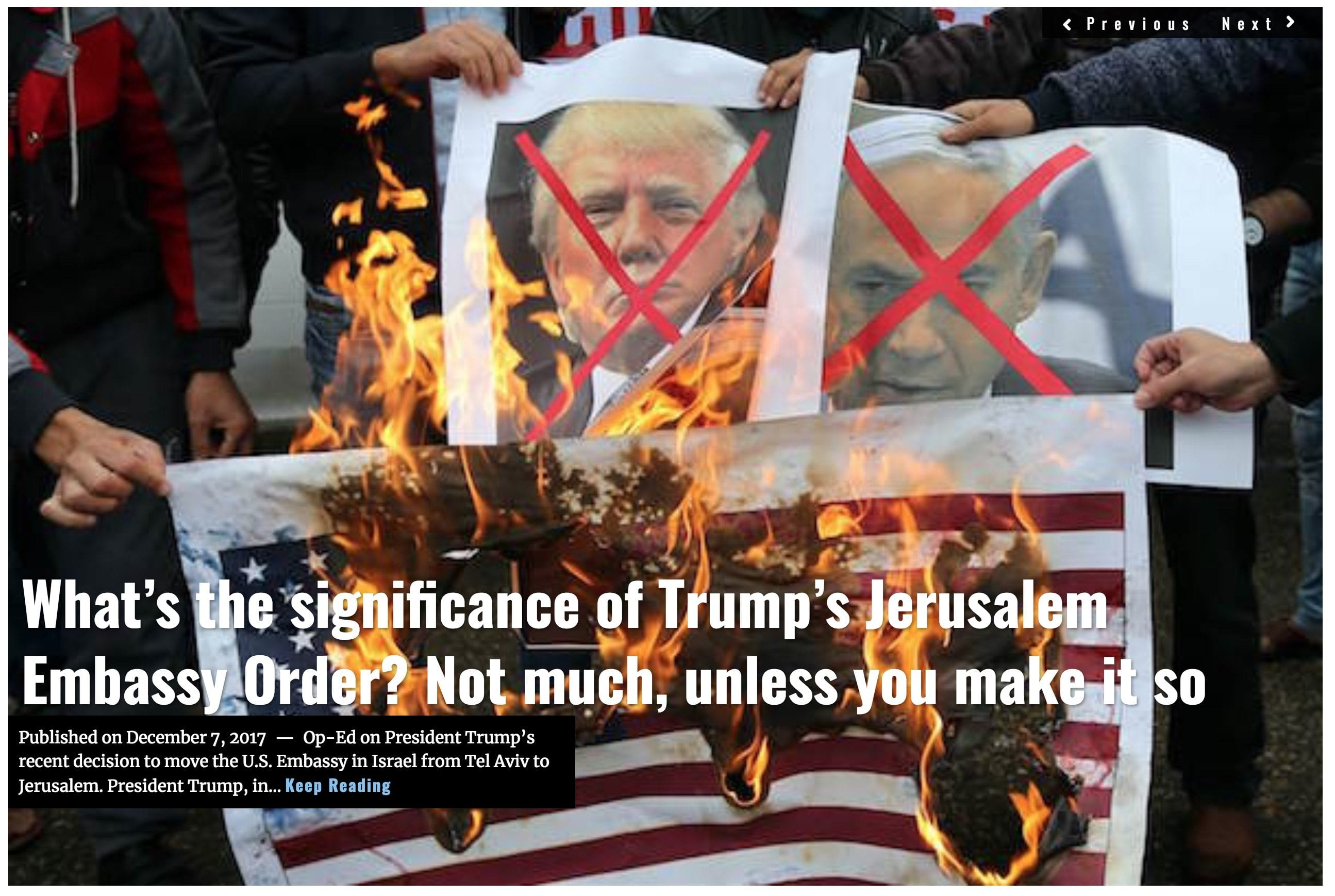 Image Lima Charlie News Headline Jerusalem Embassy D.Firester DEC7