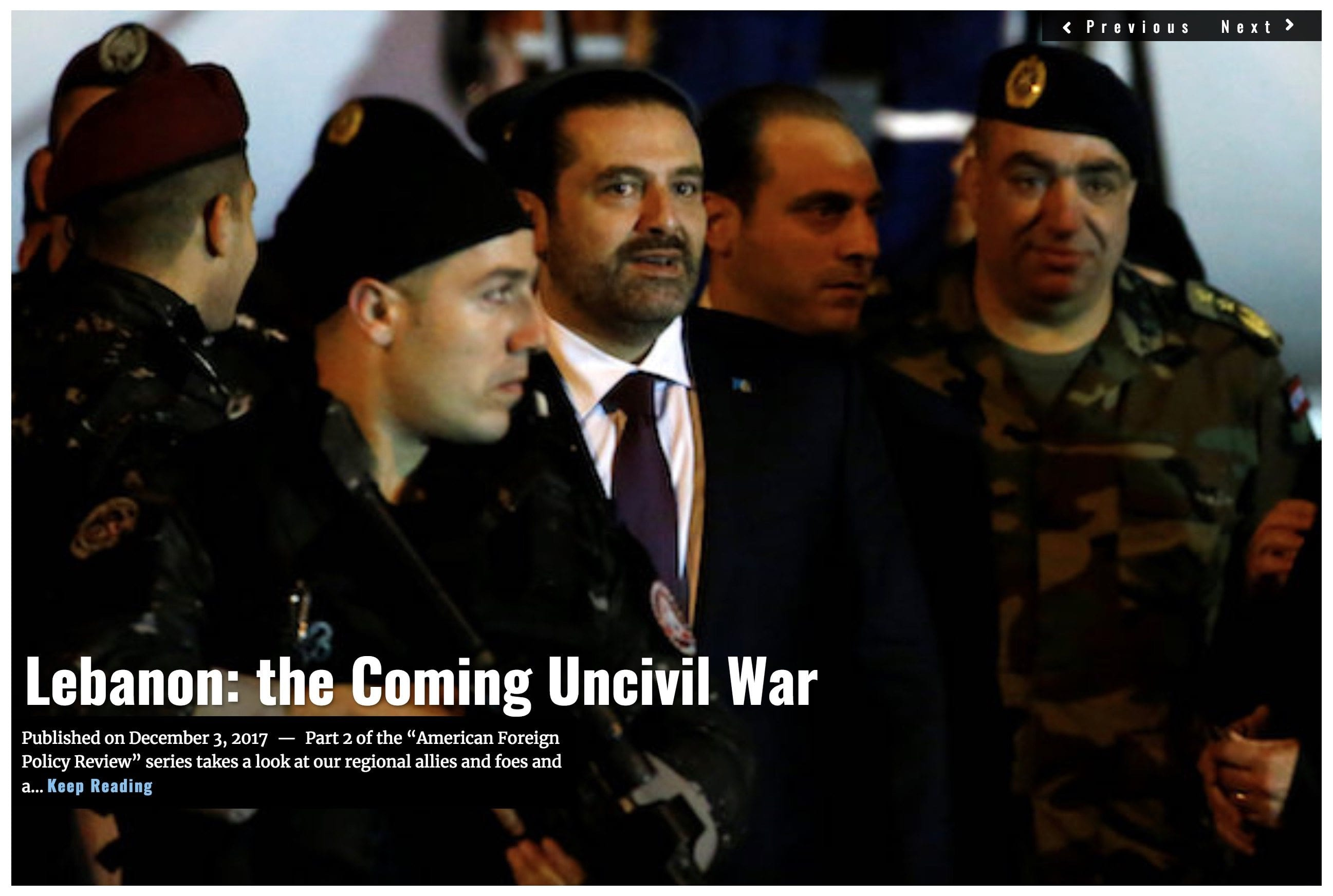 Image Lima Charlie News Headline Lebanon Civil War DEC3 J.Sjoholm