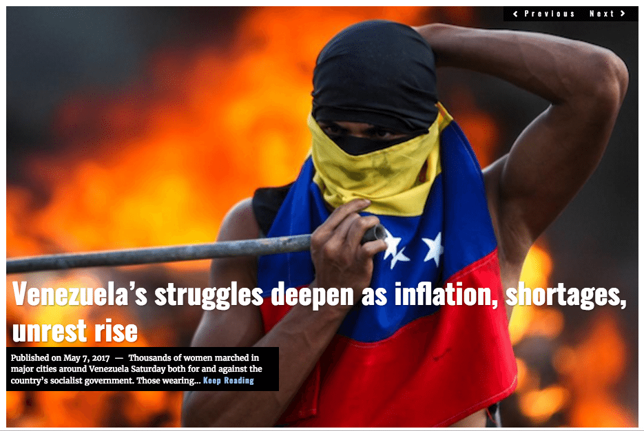 Image Lima Charlie News Headline Venezuela MAY7