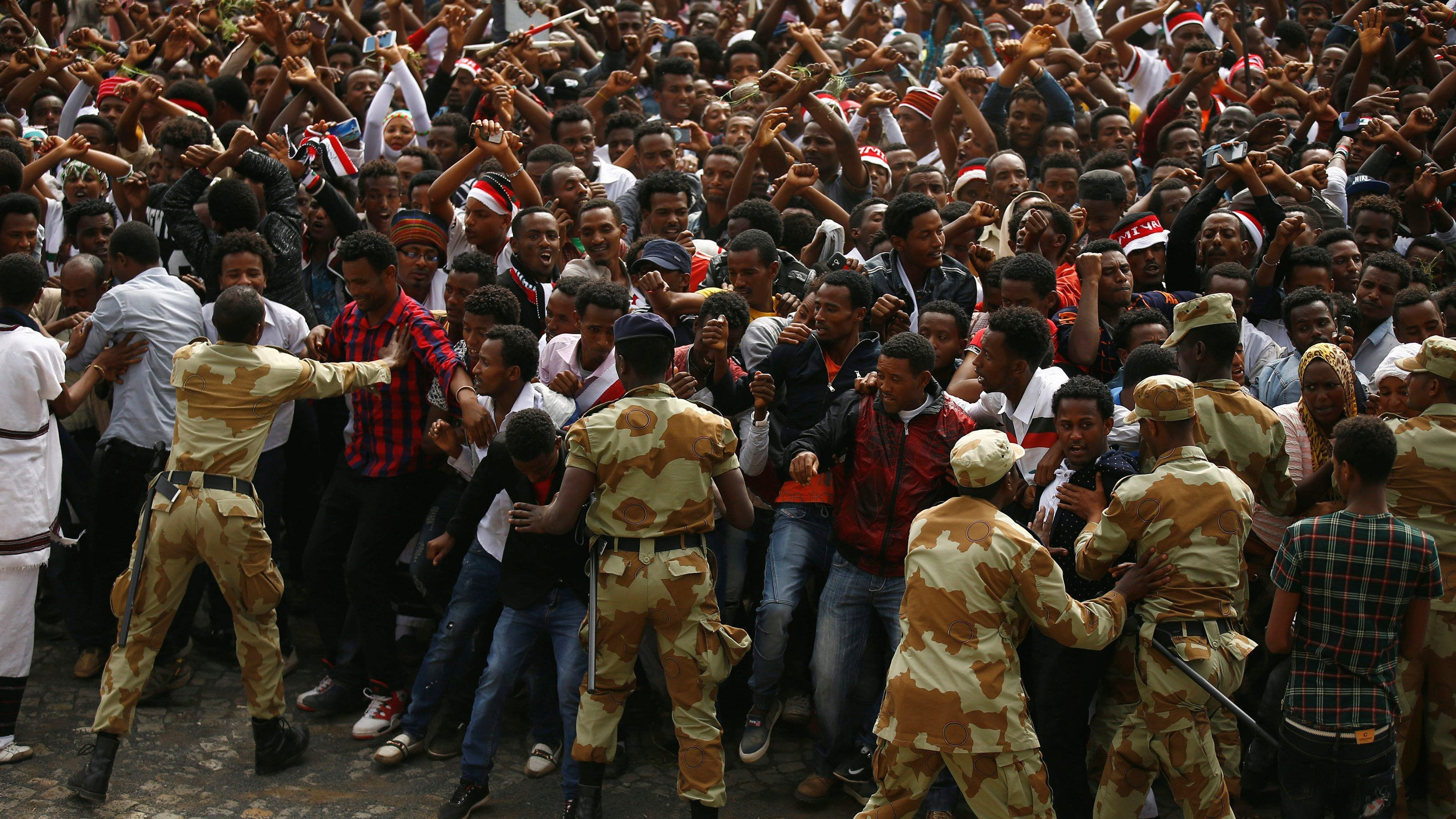Image Ethnic Somalis and ethnic Oromos clashed last week leaving dozens dead [Image courtesy of Quartz].