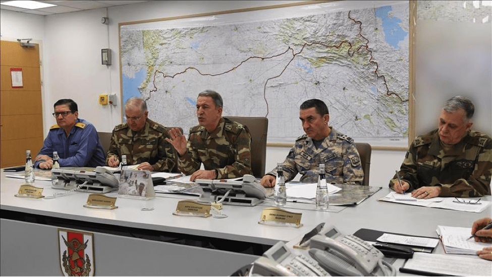 Image Commander of the Turkish Armed Forces, General Hulusi Akar gives briefing on Operation Olive Branch