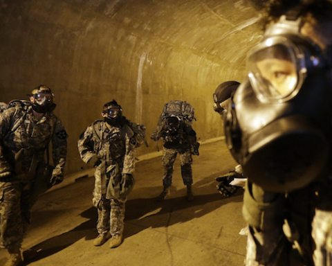 Image U.S. training Army for tunnel combat in North Korea