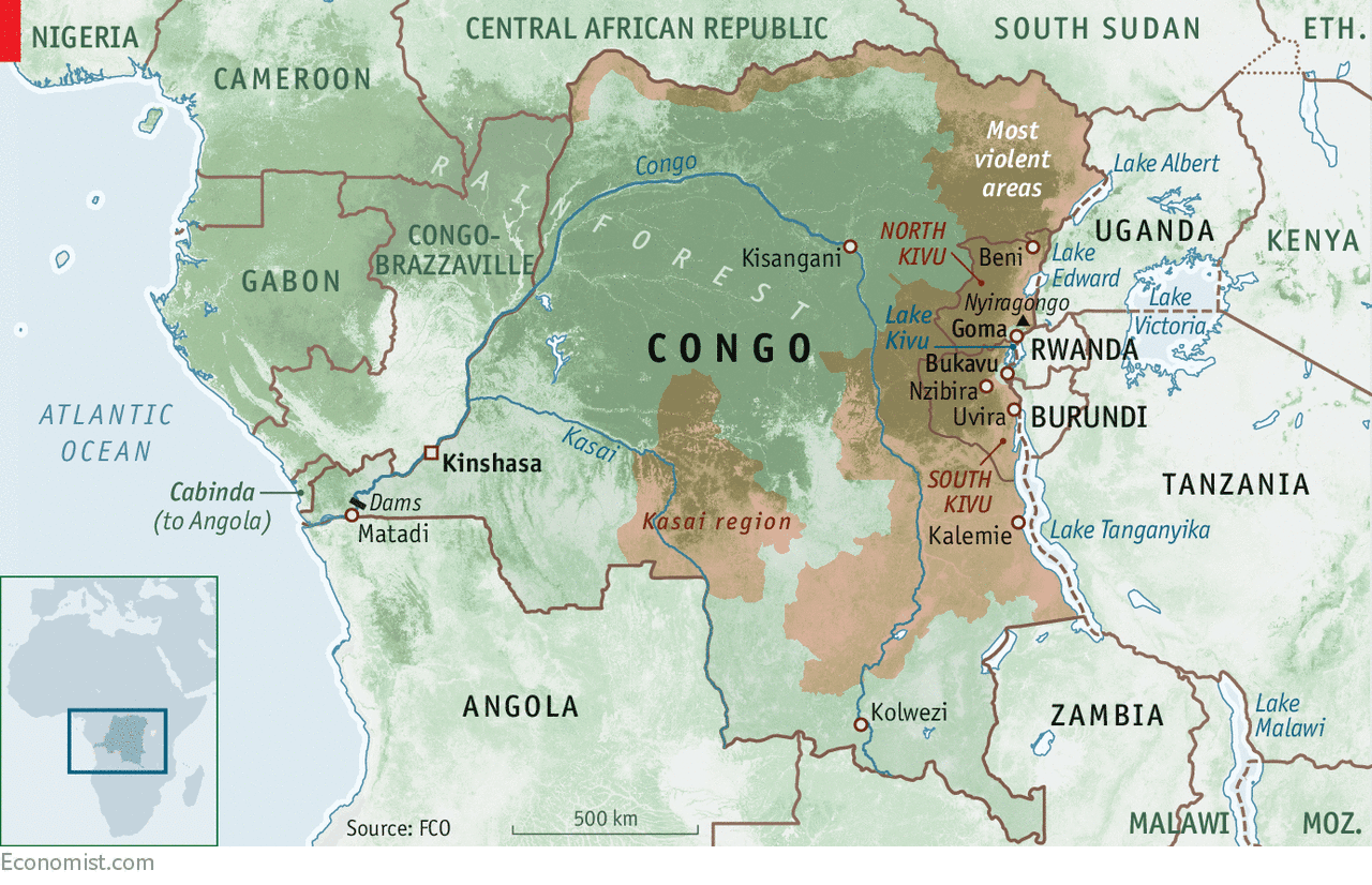 Image Congo minerals conflict map