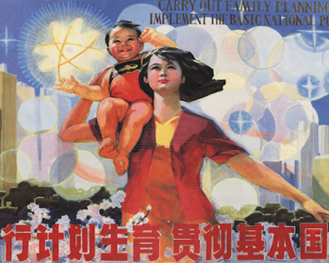 Image China facing consequences of the one-child policy [Image: Zhou Yuwei, 1986]