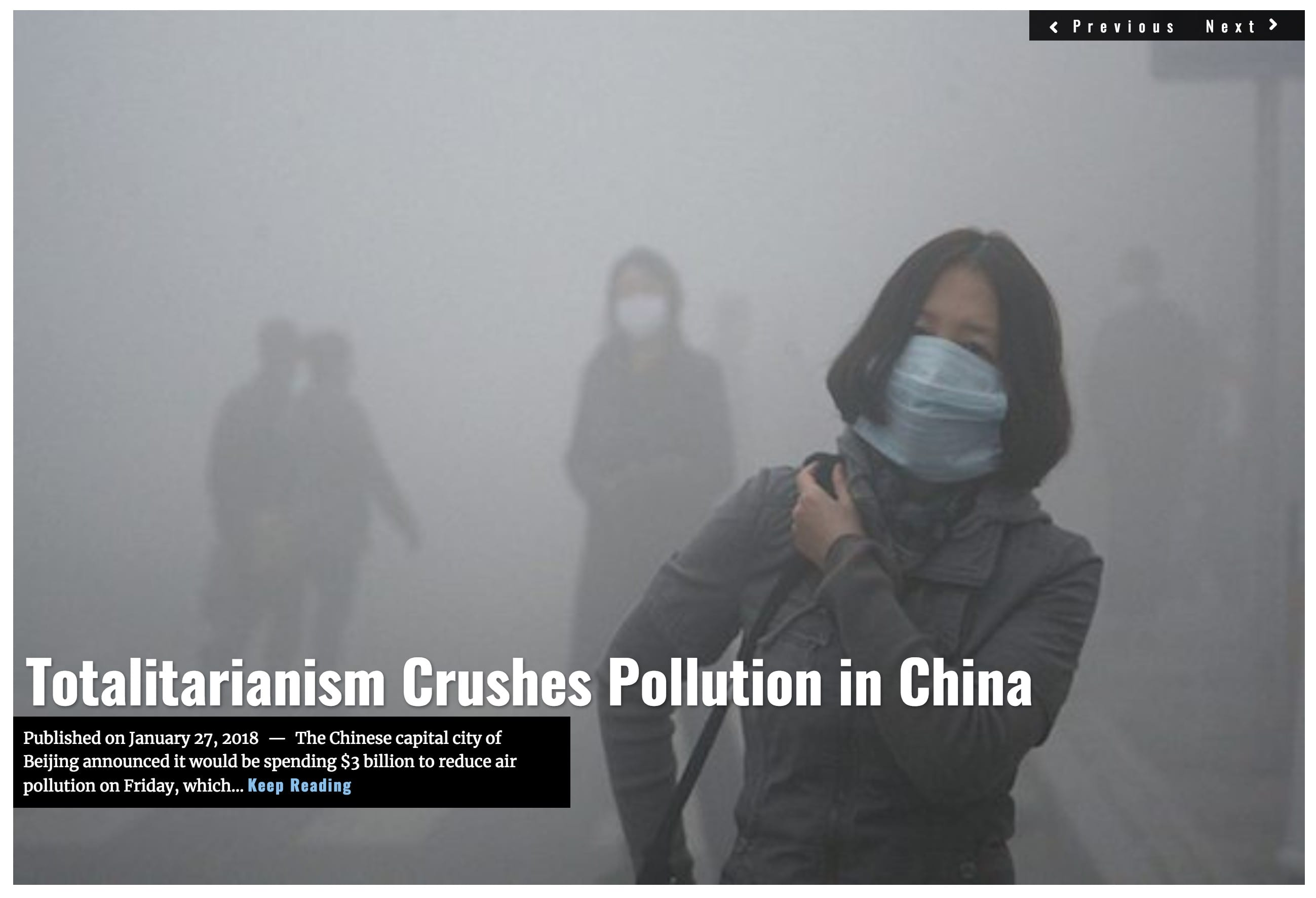 Image Lima Charlie News Headline China pollution JAN 27 2018