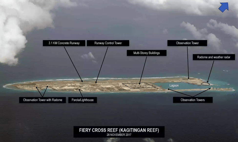 Image (Fiery Cross Reef. Photograph: Inquirer.net/Philippine Daily Inquirer)