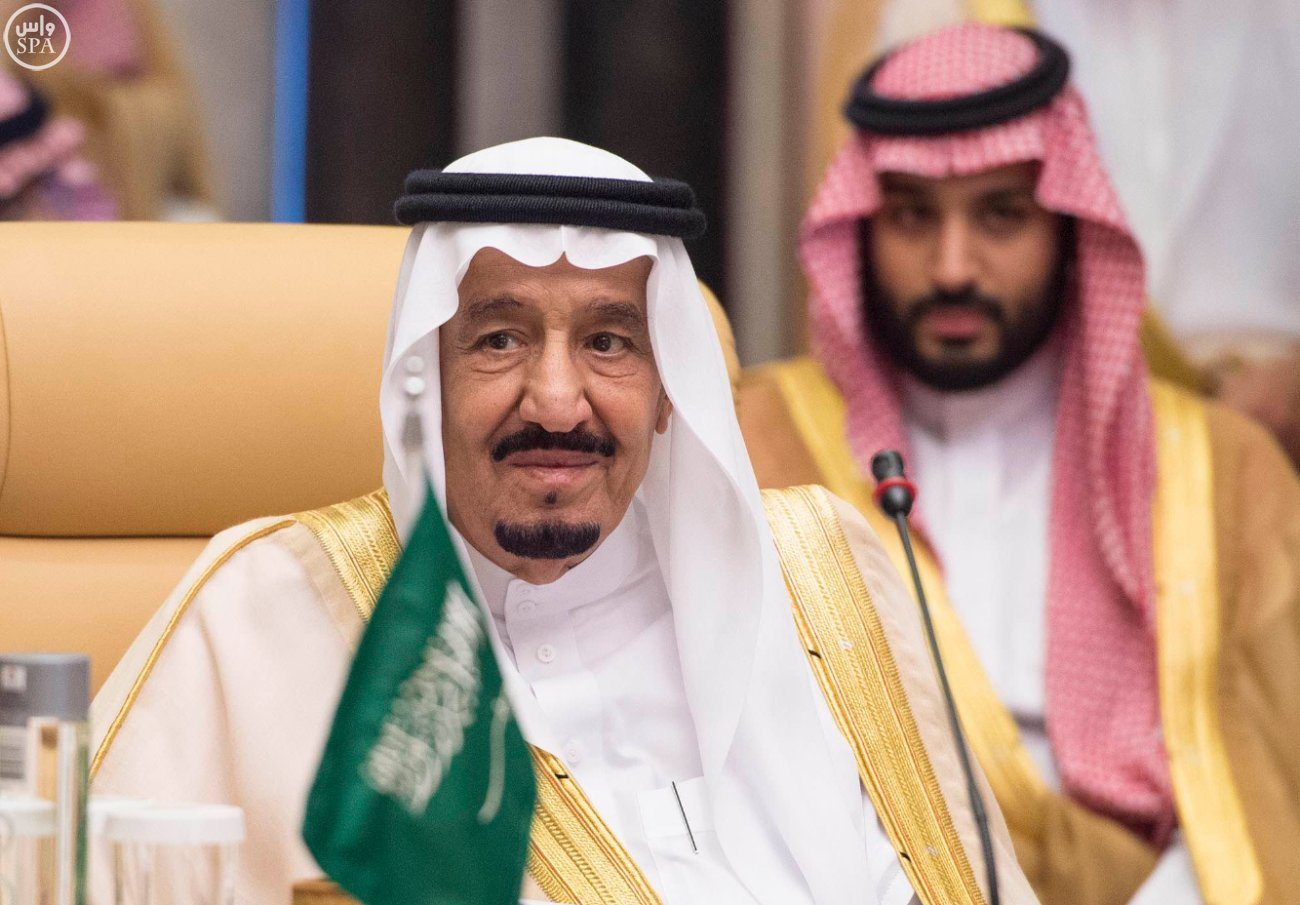 Image King Salman of Saudi Arabia (left), Crown Prince Mohammed bin Salman