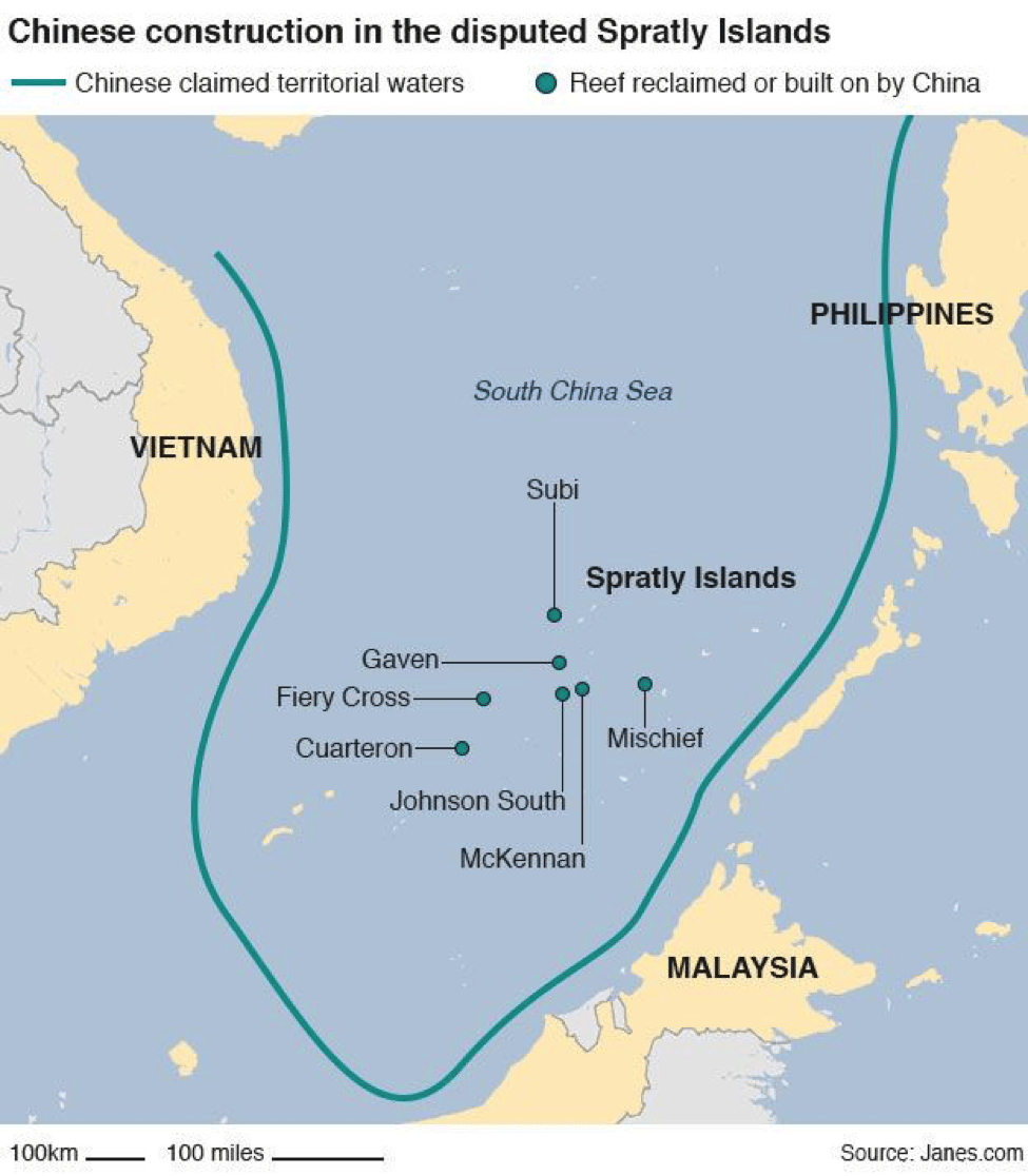 Image South China Sea China construction [Janes]