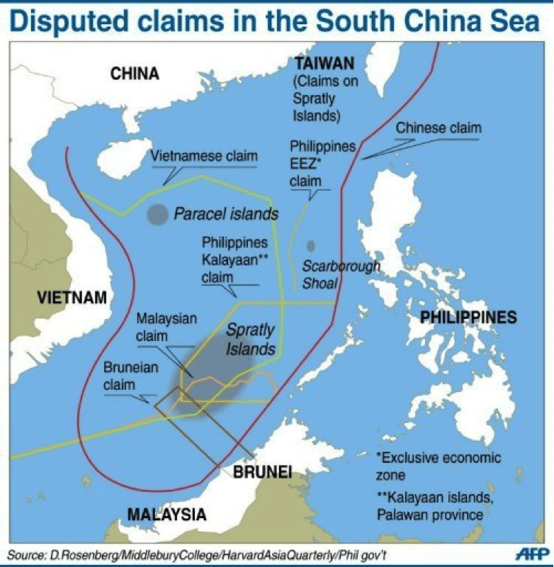 Image map South China Sea dispute