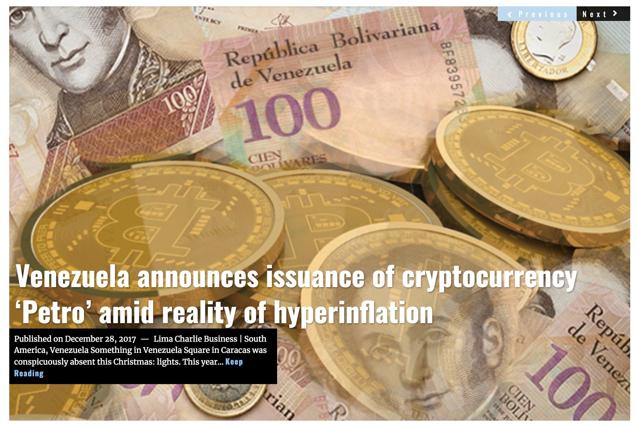 Image Venezuela crypto Lima Charlie News Headline DEC28