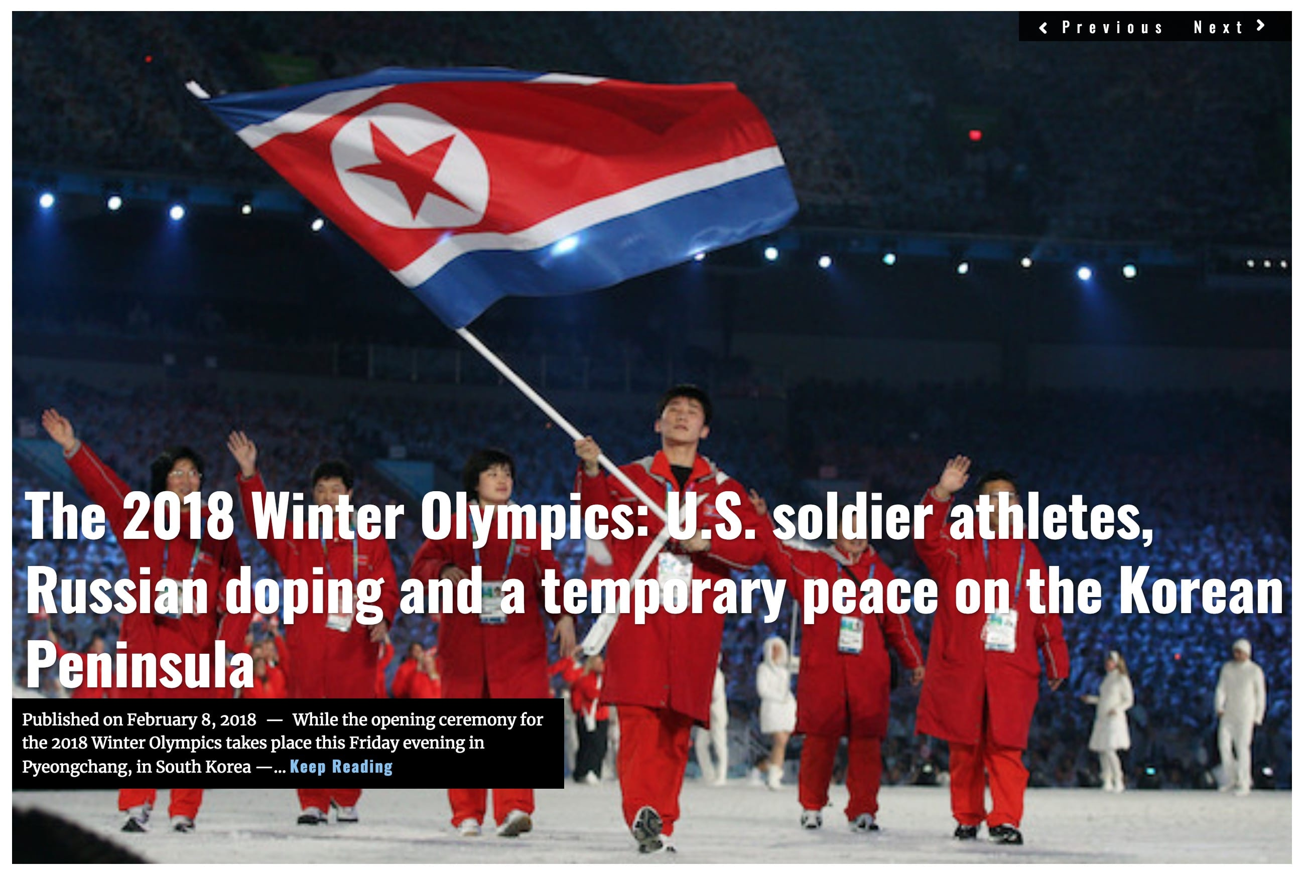 Image Lima Charlie News Headline Winter Olympics FEB 8 2018