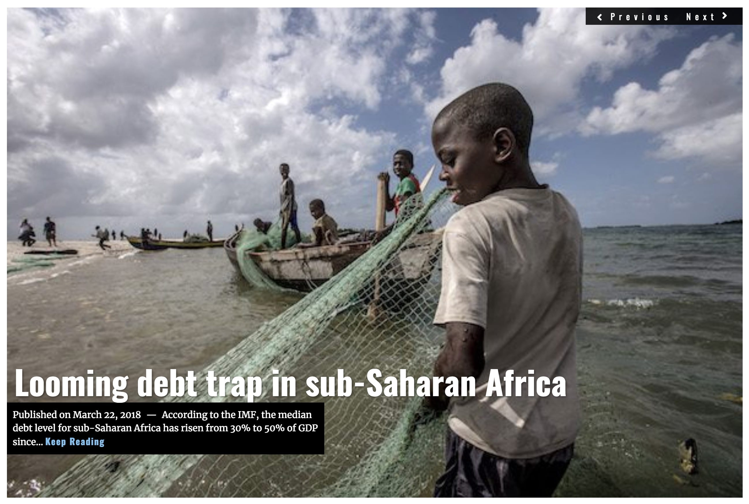 Image Lima Charlie News Headline Africa Debt MAR 22 2-10