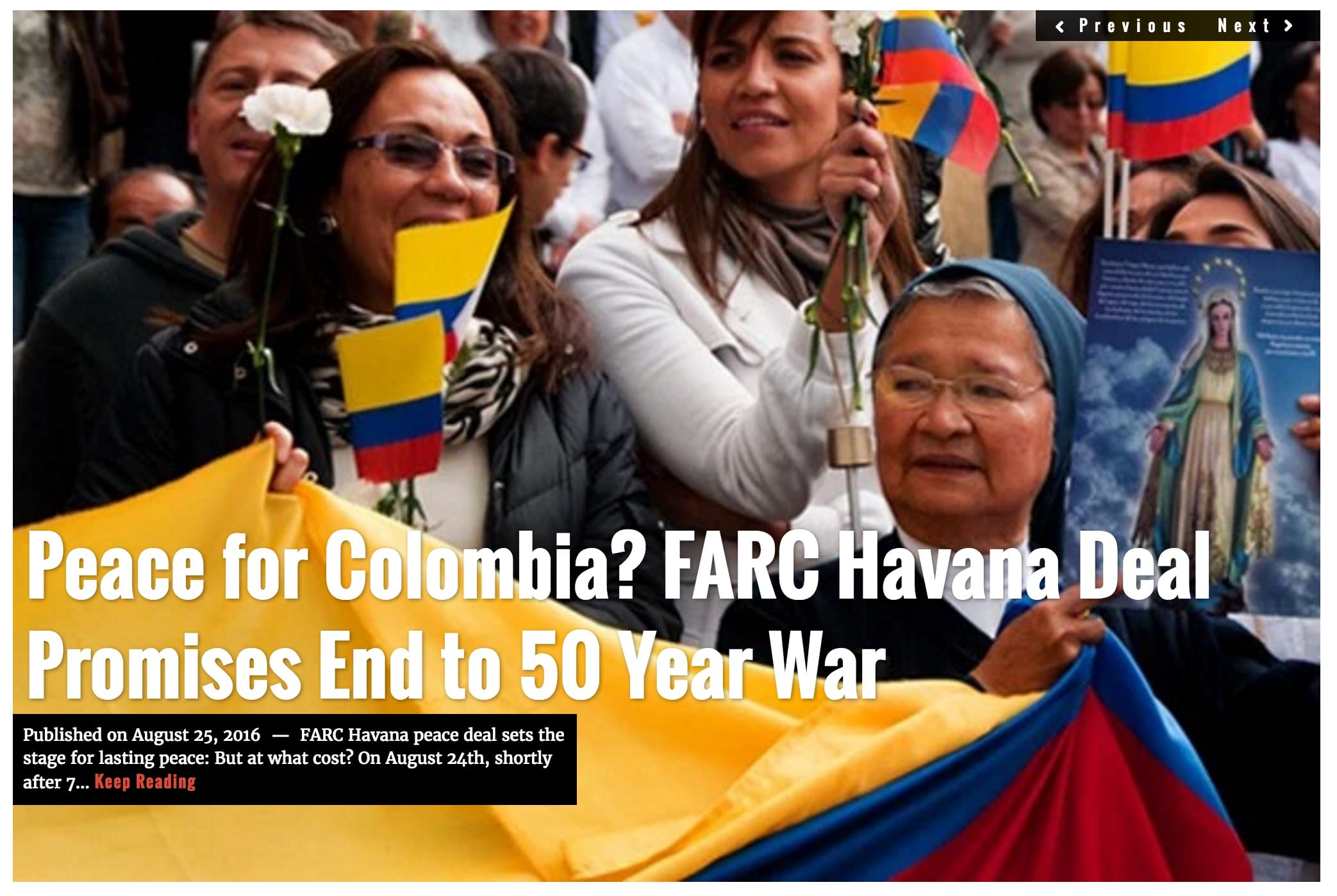 Image Lima Charlie News Headline Colombia FARC AUG25
