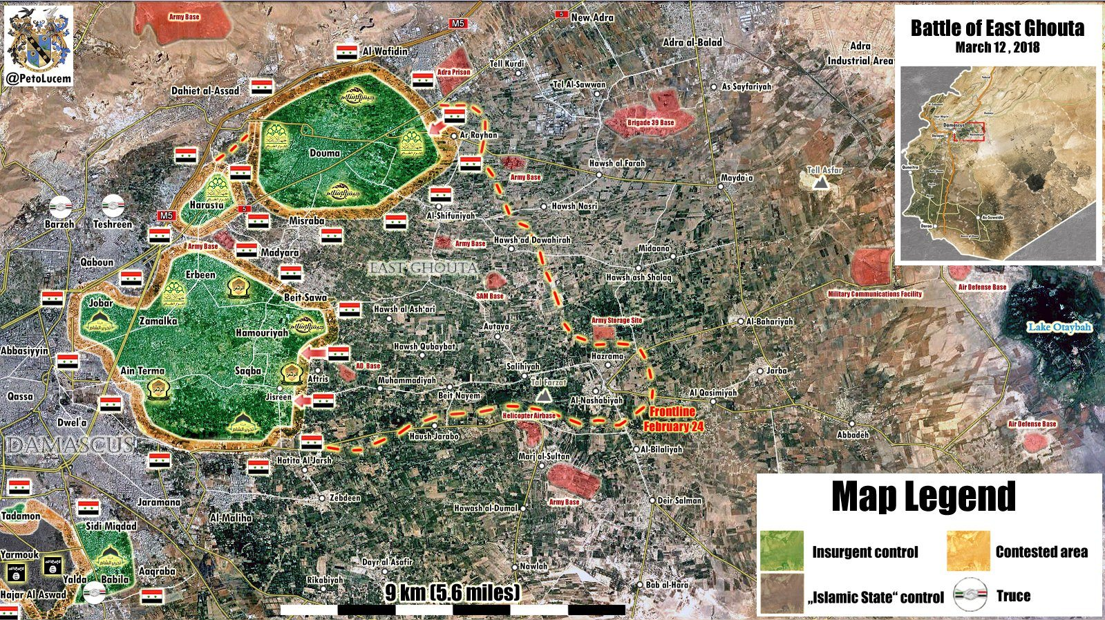 Image [East Ghouta Map courtesy of @PetoLucem, Mar. 12, 2018]