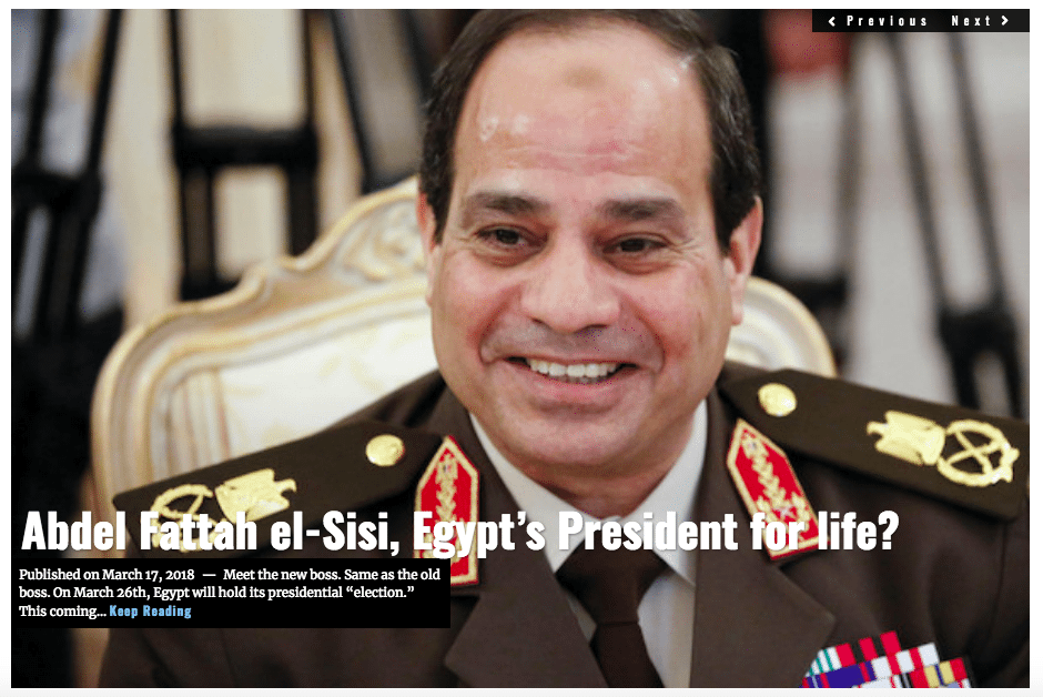Image Lima Charlie News Headline Egypt presidential election MAR 17 2018