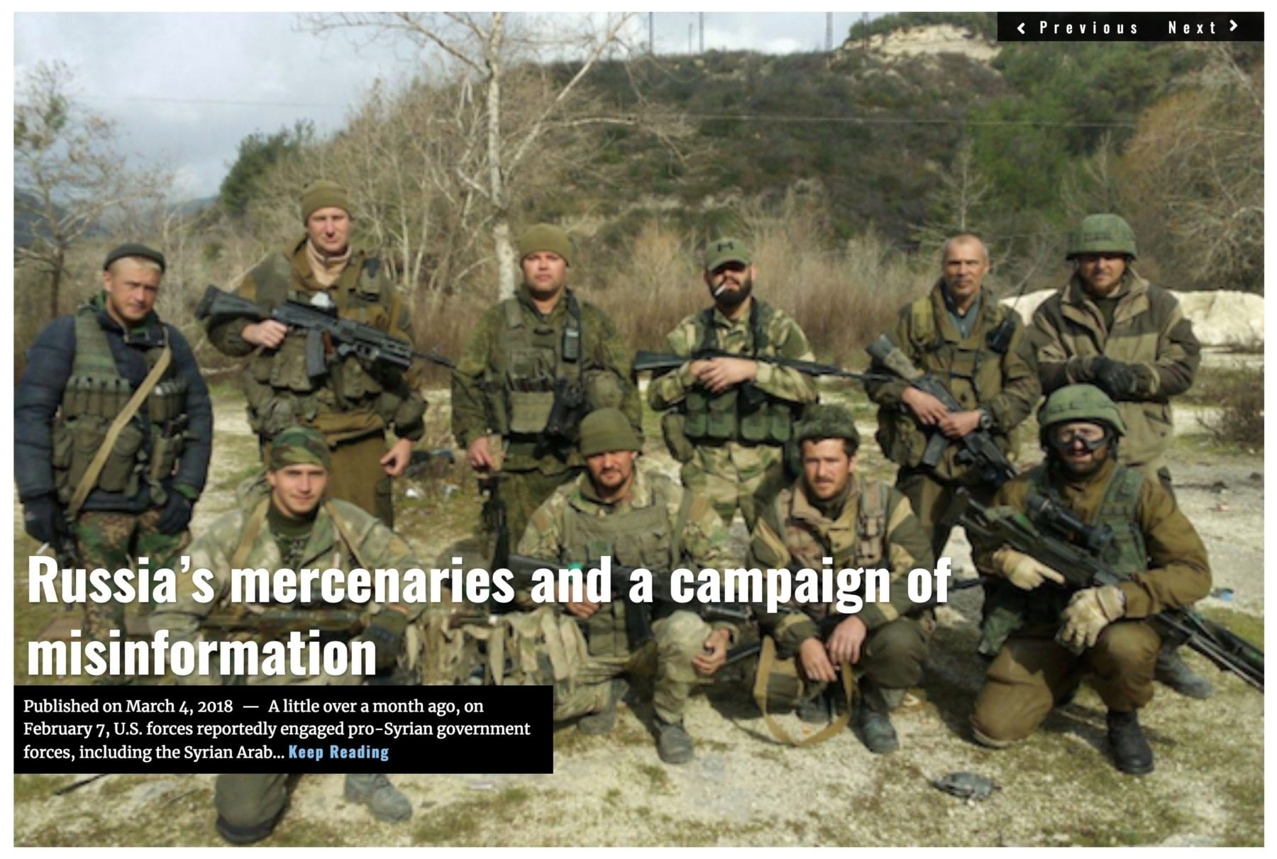 Image Lima Charlie News Headline Russia mercenaries MAR 4 2018
