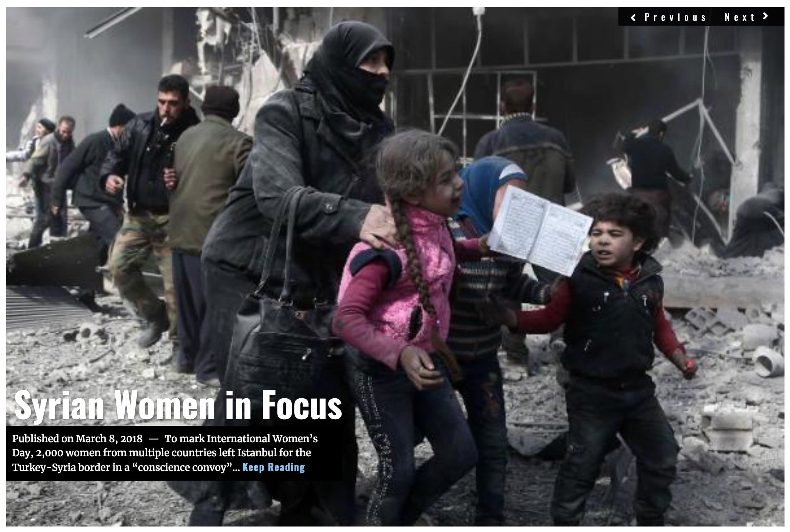 Image Lima Charlie News Headline Syria women MAR 8 2018