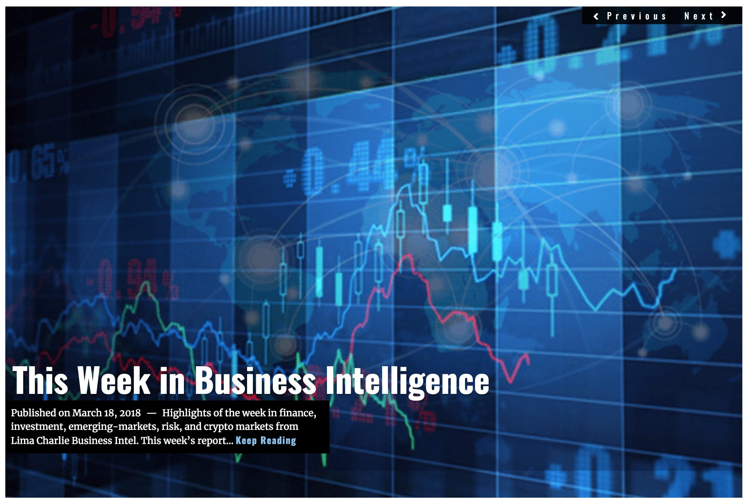 Image Lima Charlie News Headline This Week in Business Intelligence MAR 18 2018