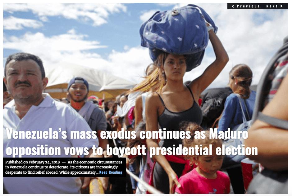 Image Lima Charlie News Headline Venezuela Exodus FEB 24