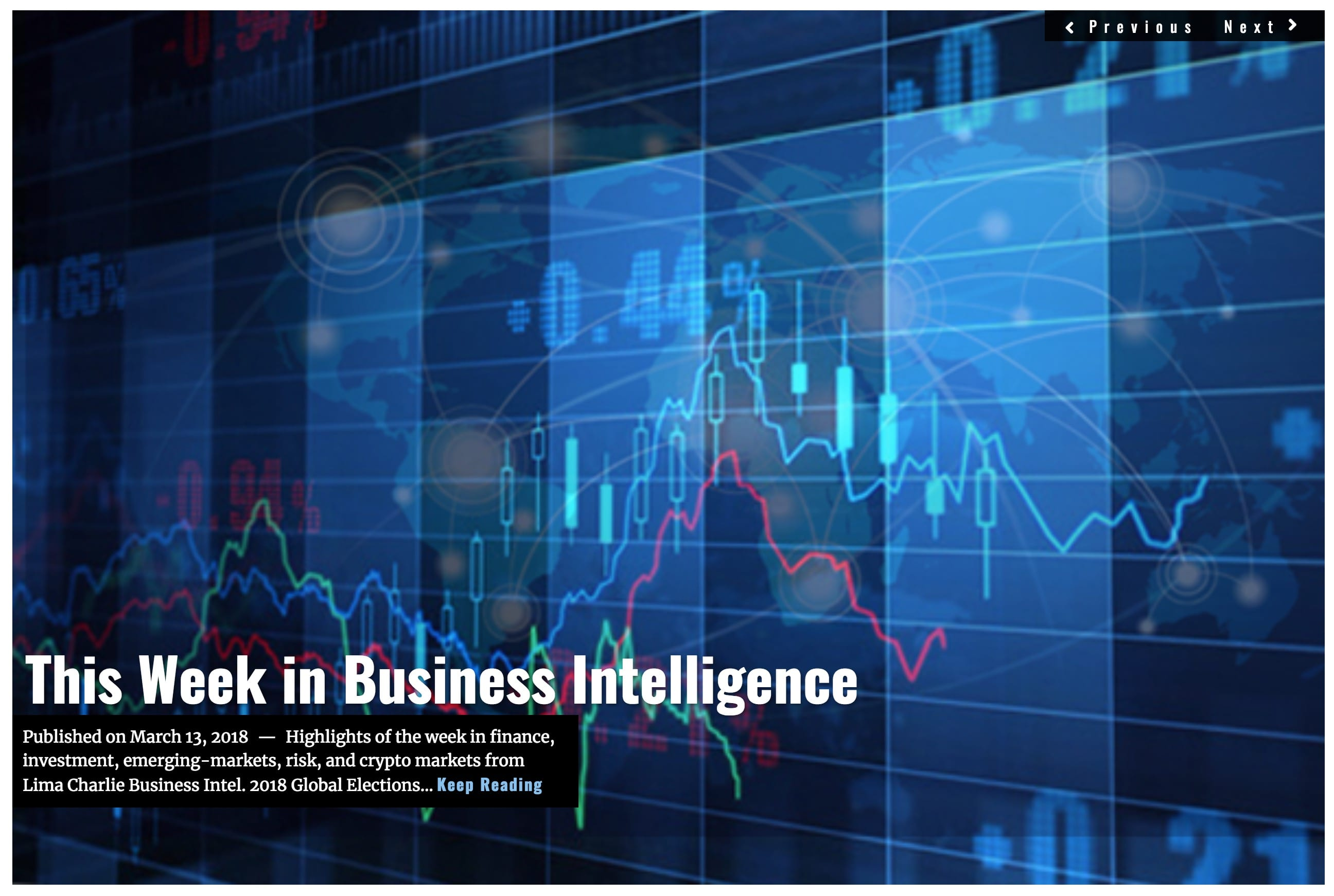 Image Lima Charlie News Headline Week in Business Intelligence MAR 13 2018