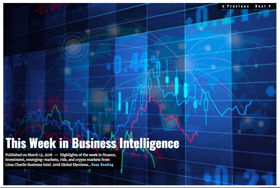 Image Lima Charlie News Headline Week in Business Intelligence MAR 17 2018