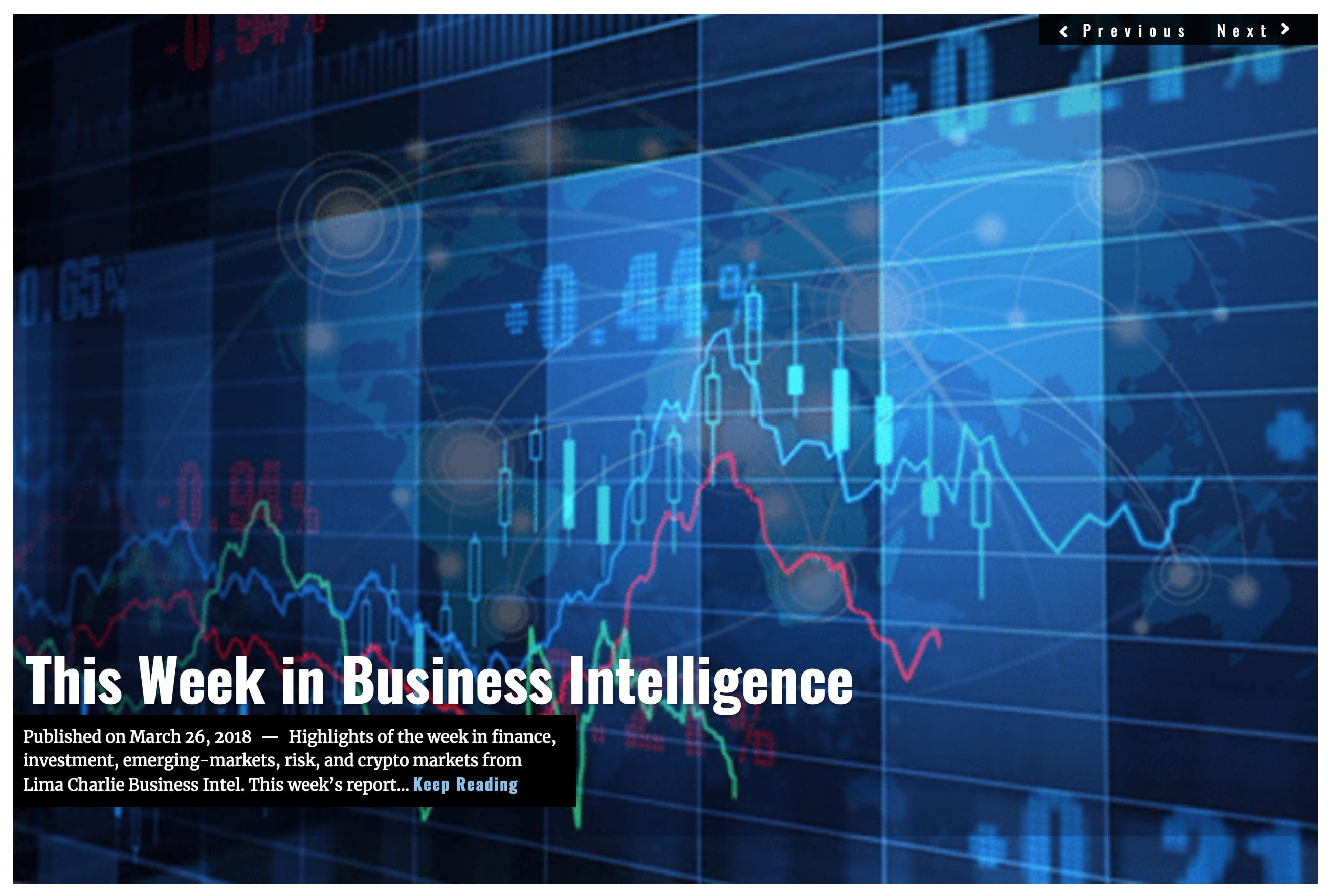 Image Lima Charlie News Headline Week in Business Intelligence MAR 26 2018