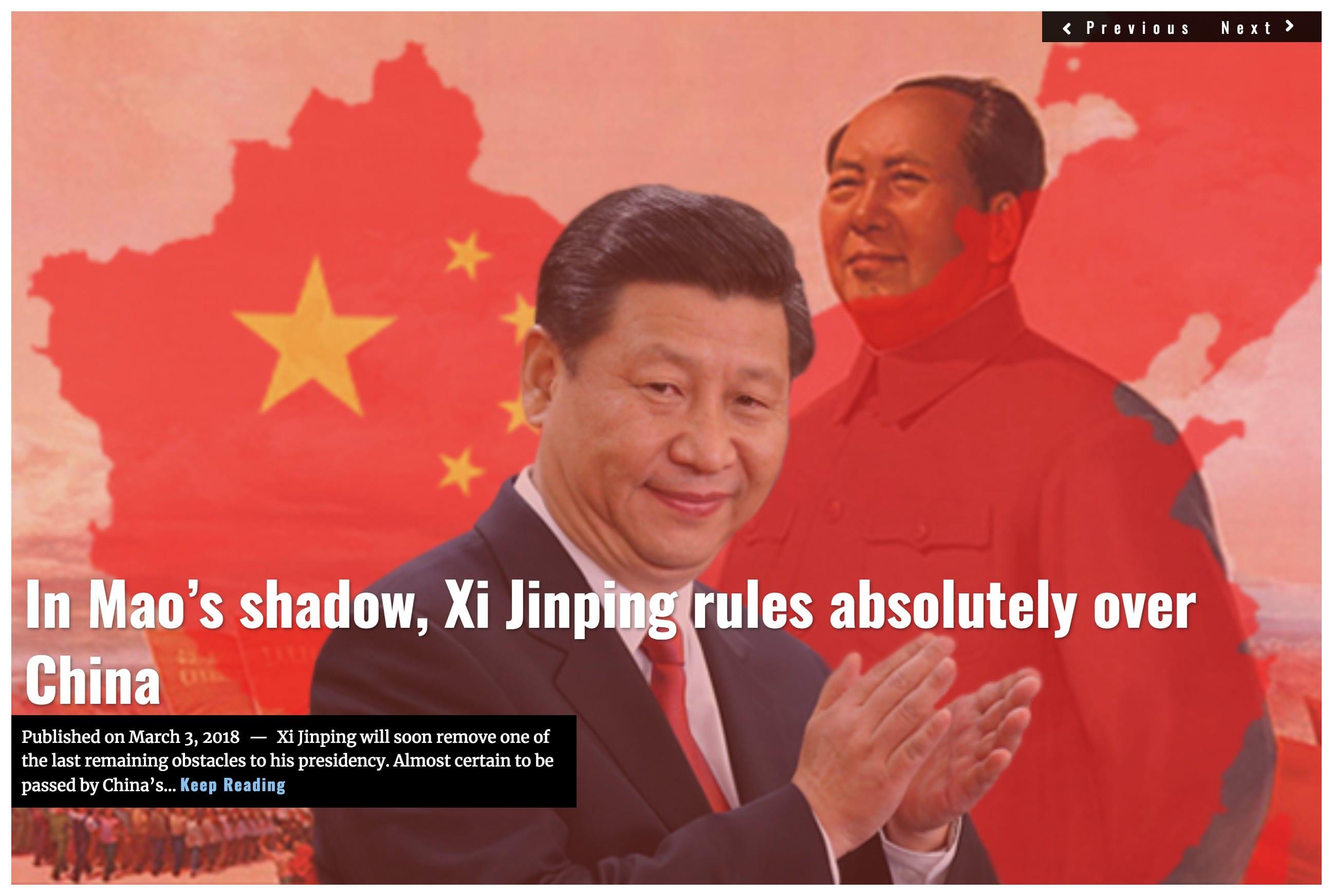 Image Lima Charlie News Headline Xi rule over China Sjoholm MAR 3 2018