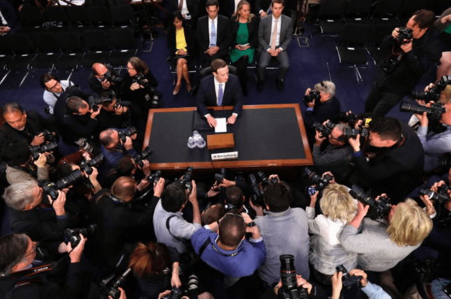 Image (Zuckerberg, at the first day of the congressional hearing, responded to questions ranging between regulation, competition, Cambridge Analytica, and data abuse. | Source: ABC)