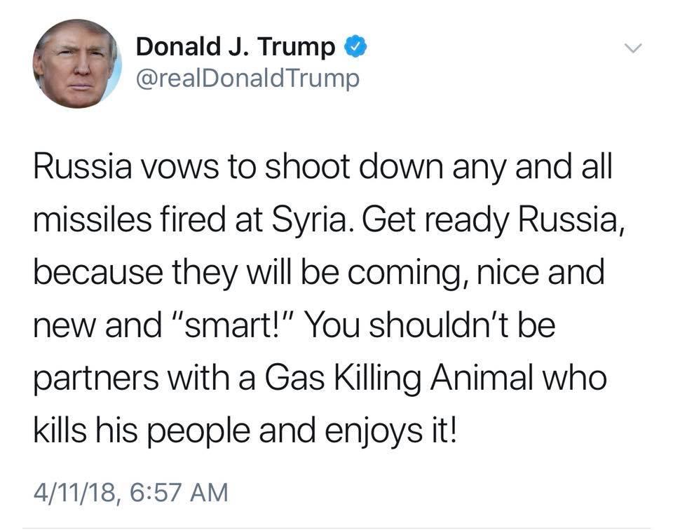 Image Trump tweet Russia Syria