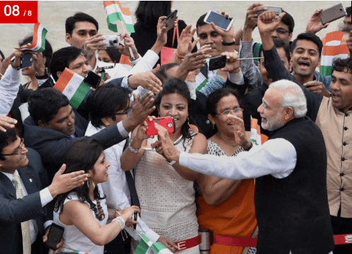 Image (Prior to signing the agreement, Prime Minister Narendra Modi greeted members of the Indian Community upon arrival at Seoul Air Base, in Seoul, South Korea. | Source PTI)