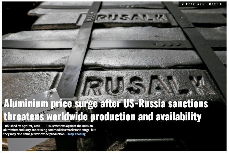 Image Lima Charlie News Headline Aluminium Russia Sanctions APR 21 2018