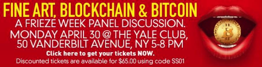 Image Fine art blockchain bitcoin event