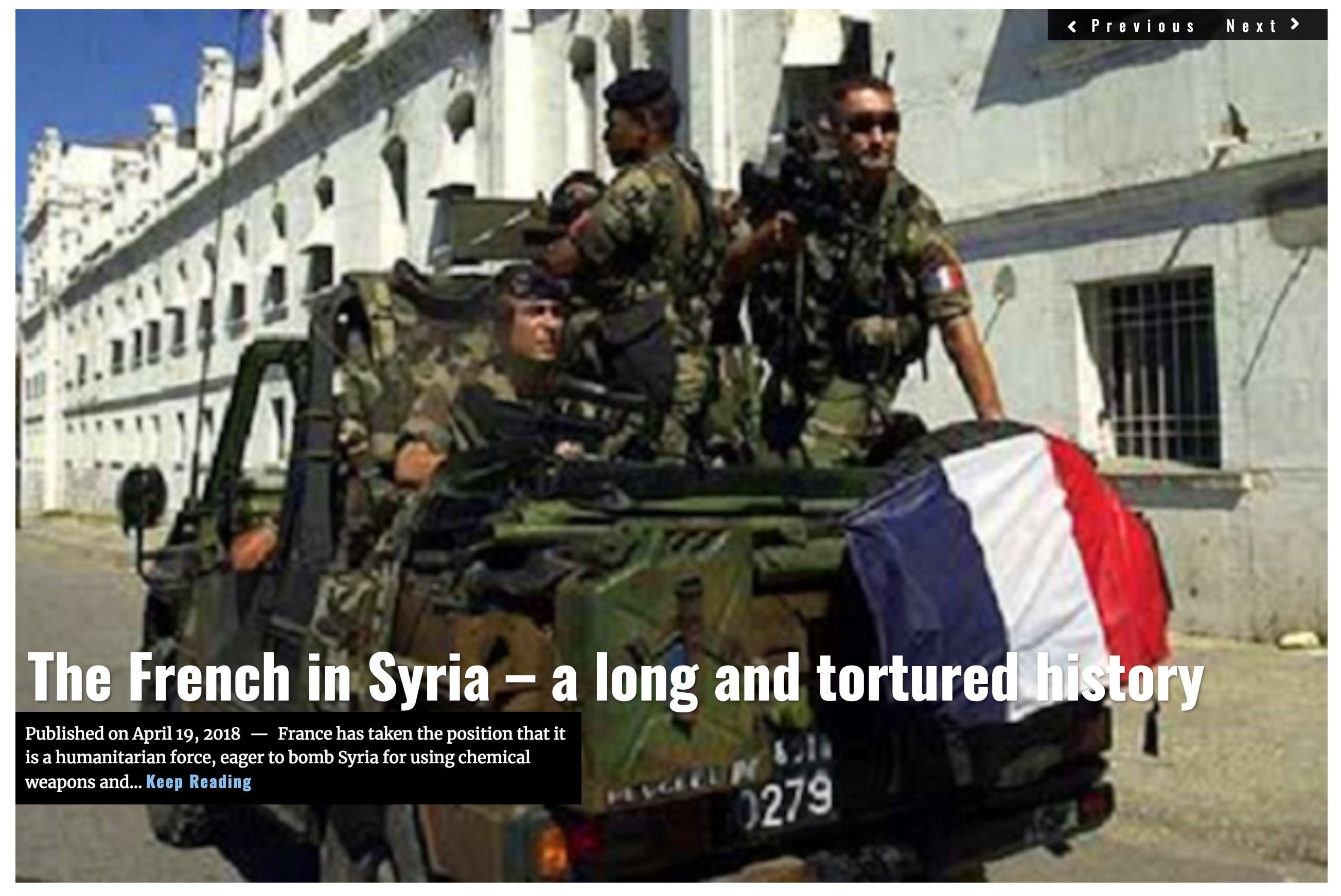 Image Lima Charlie News Headline French Syria Tortured History APR 19 2018