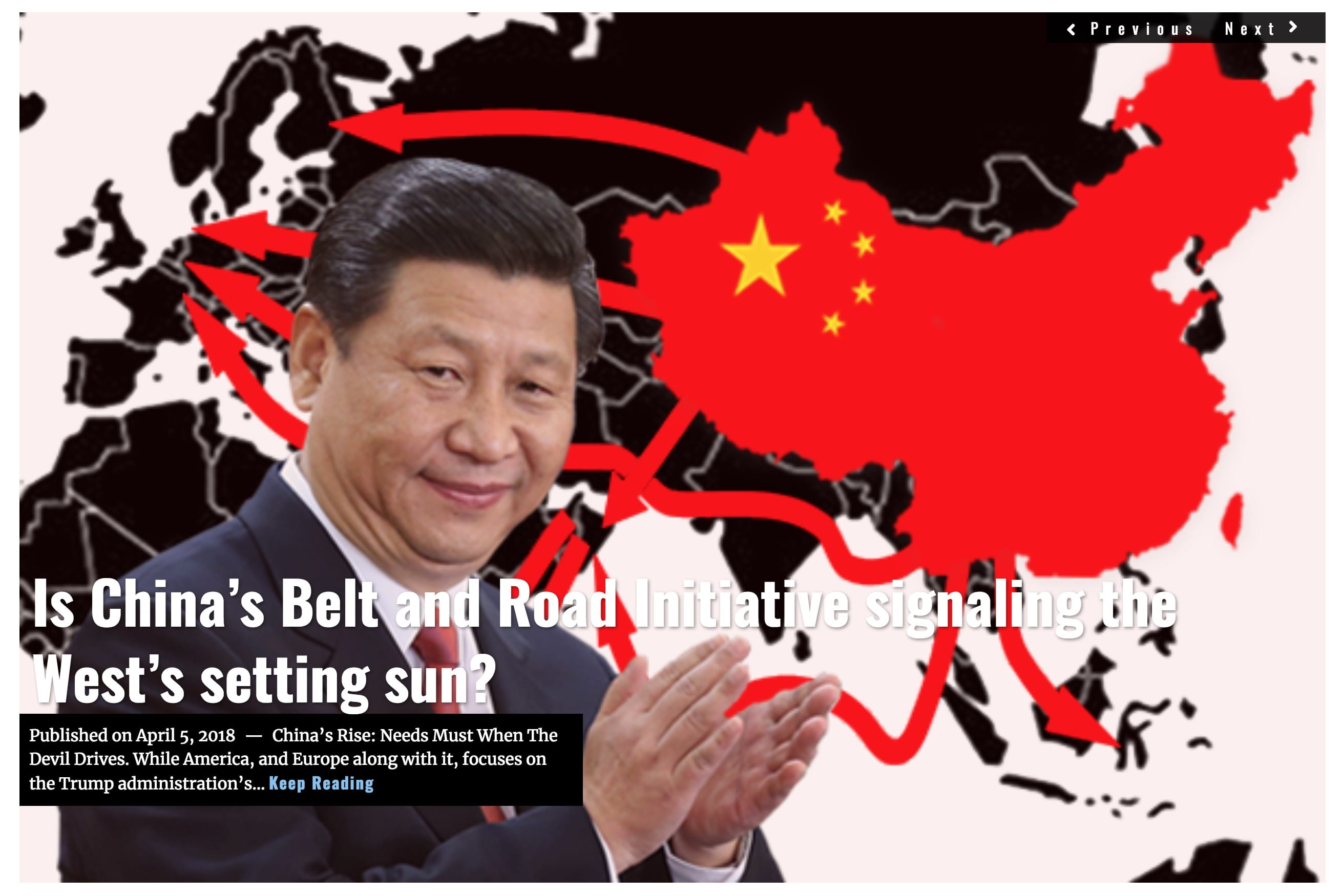 Image Lima Charlie News Headline China Belt and Road APRIL 2018