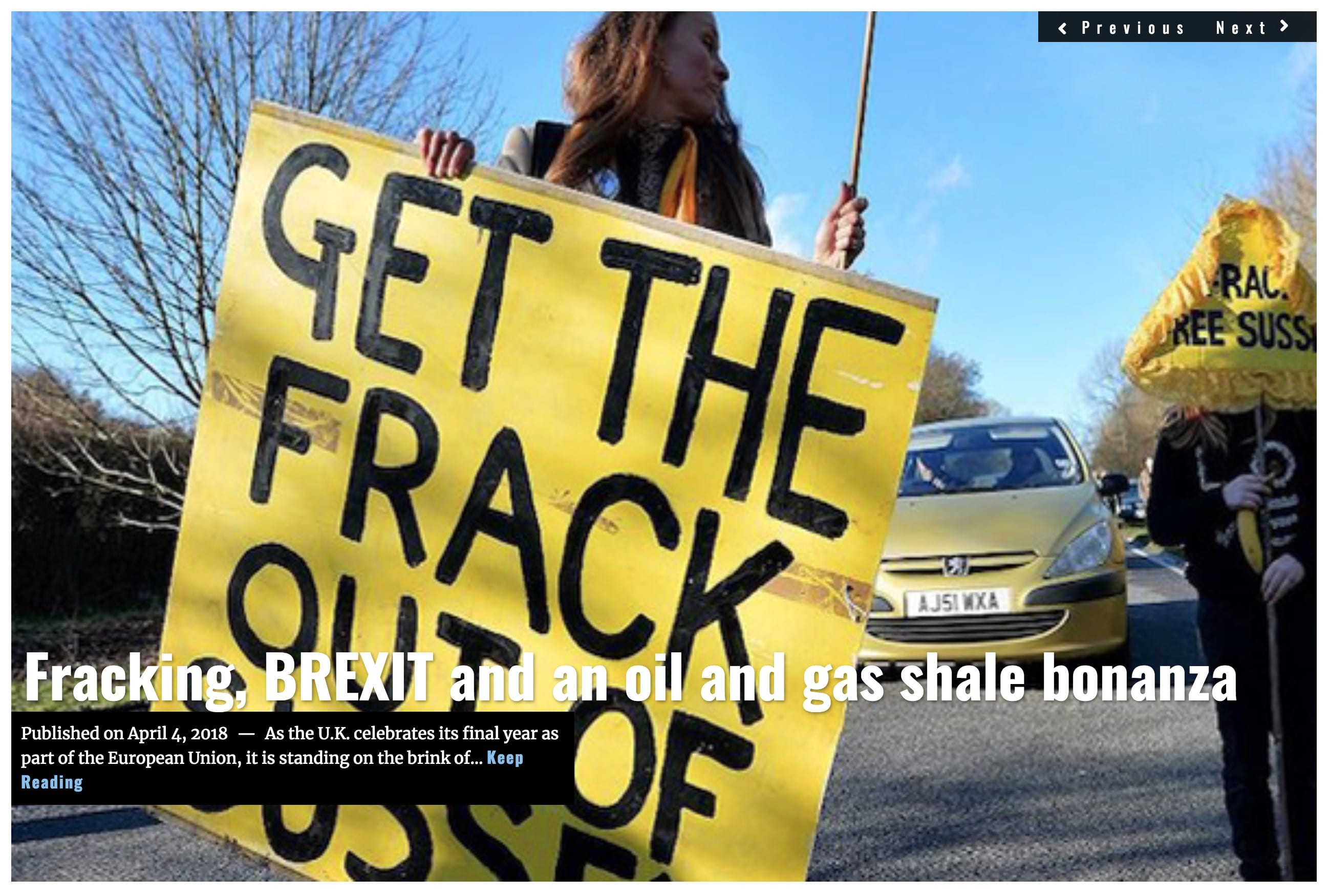 Image Lima Charlie News Headline Fracking BREXIT APRIL 4 2018