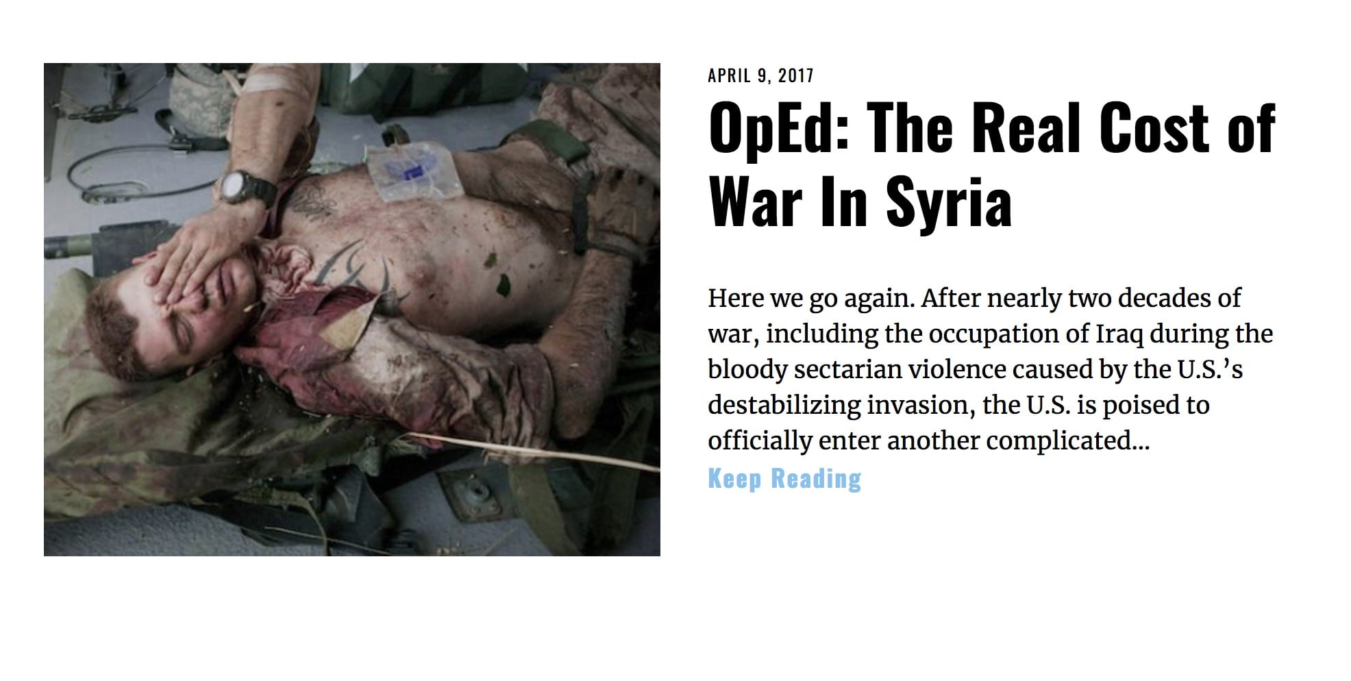 image Lima Charlie News Headline Real Cost of War in Syria APR 9 2017