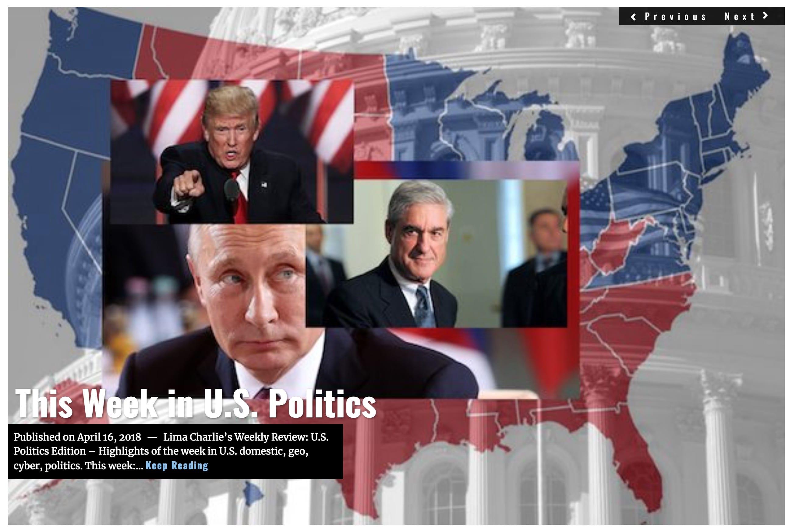image Lima Charlie News Headline US Politcs Report APR 16 2018