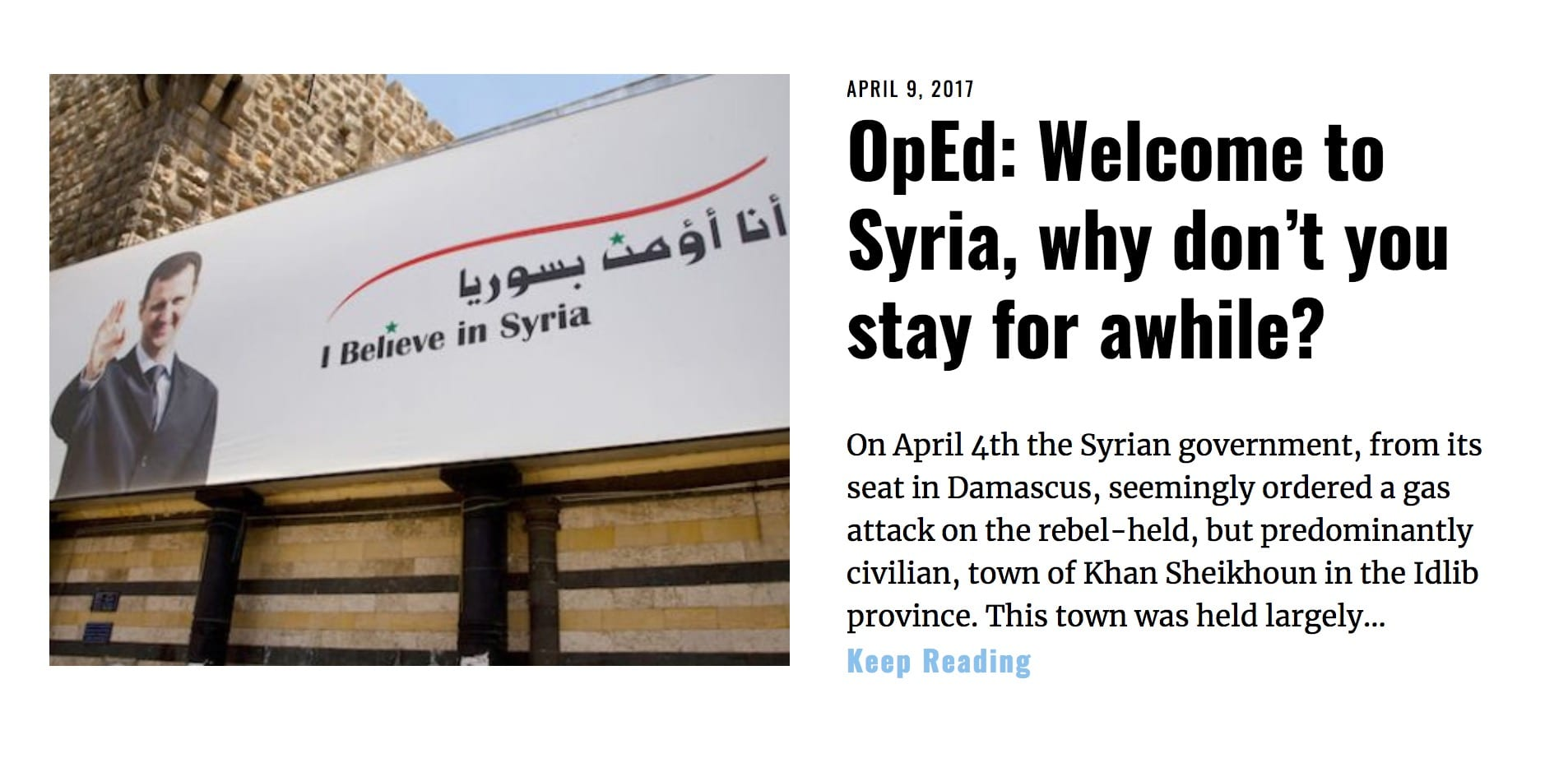 Image Lima Charlie News Headline Welcome to Syria APR 6 2017