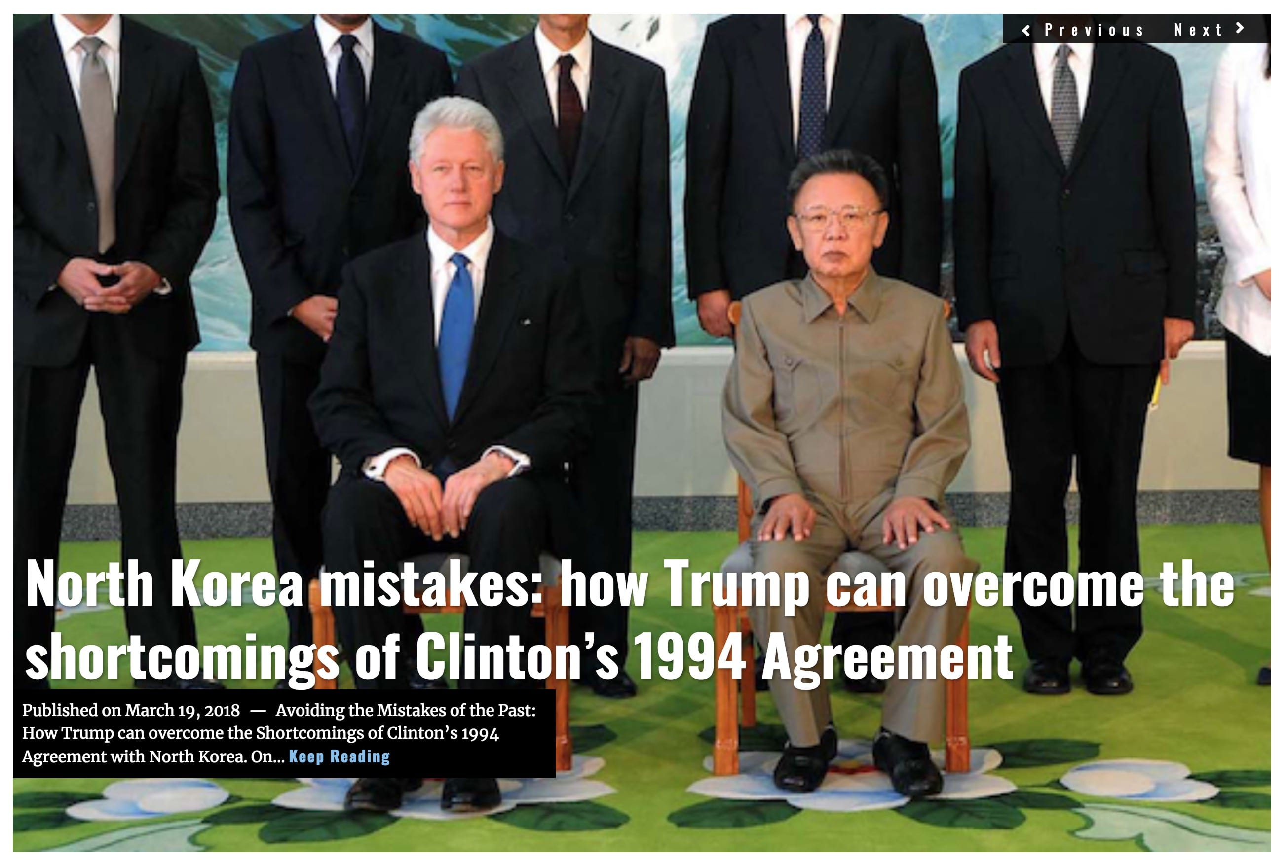 Image Lima Charlie News Headline North Korea Clinton mistakes MAR 19 2018